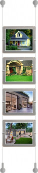 "LED Wall Display Kit - Landscape 11"" x 8.5"" - (1x4) with Satin Silver Border"